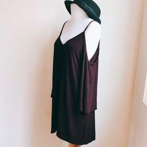 Audrey 3+1 Dresses - Audrey 3+1 Cold Shoulder Jersey Swing Dress